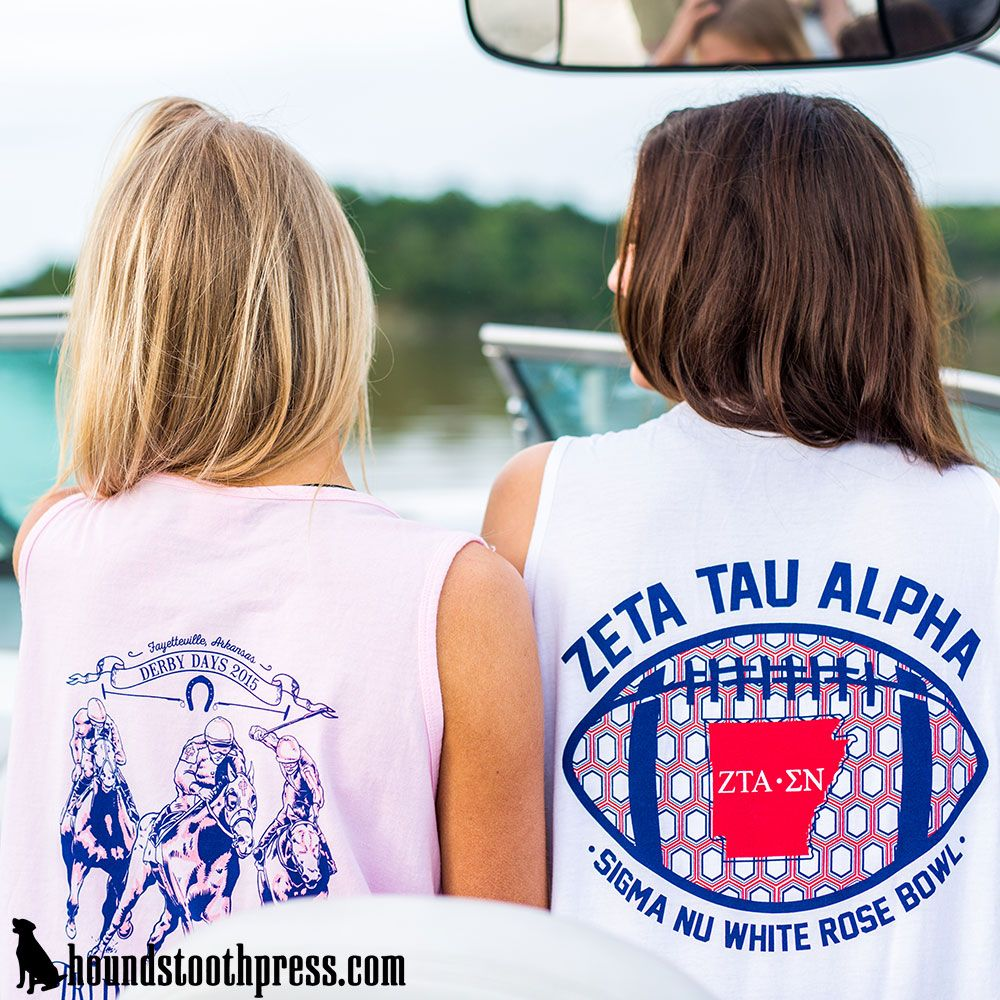 T shirt printing at white rose - Zeta Tau White Rose Bowl Tank Top Lovethelab Houndstoothpress Com Zeta Tau Alpha Shirts Zeta Tshirts Zta Sorority T Shirts Classic Sorority