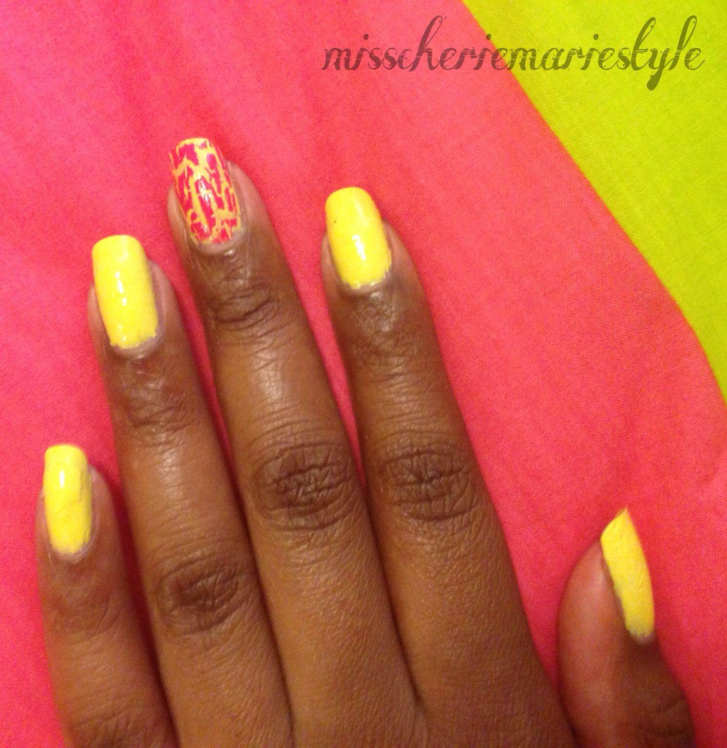Bright Neon Yellow Nails, Yellow Nail Polish, Summer Nail Polish ...