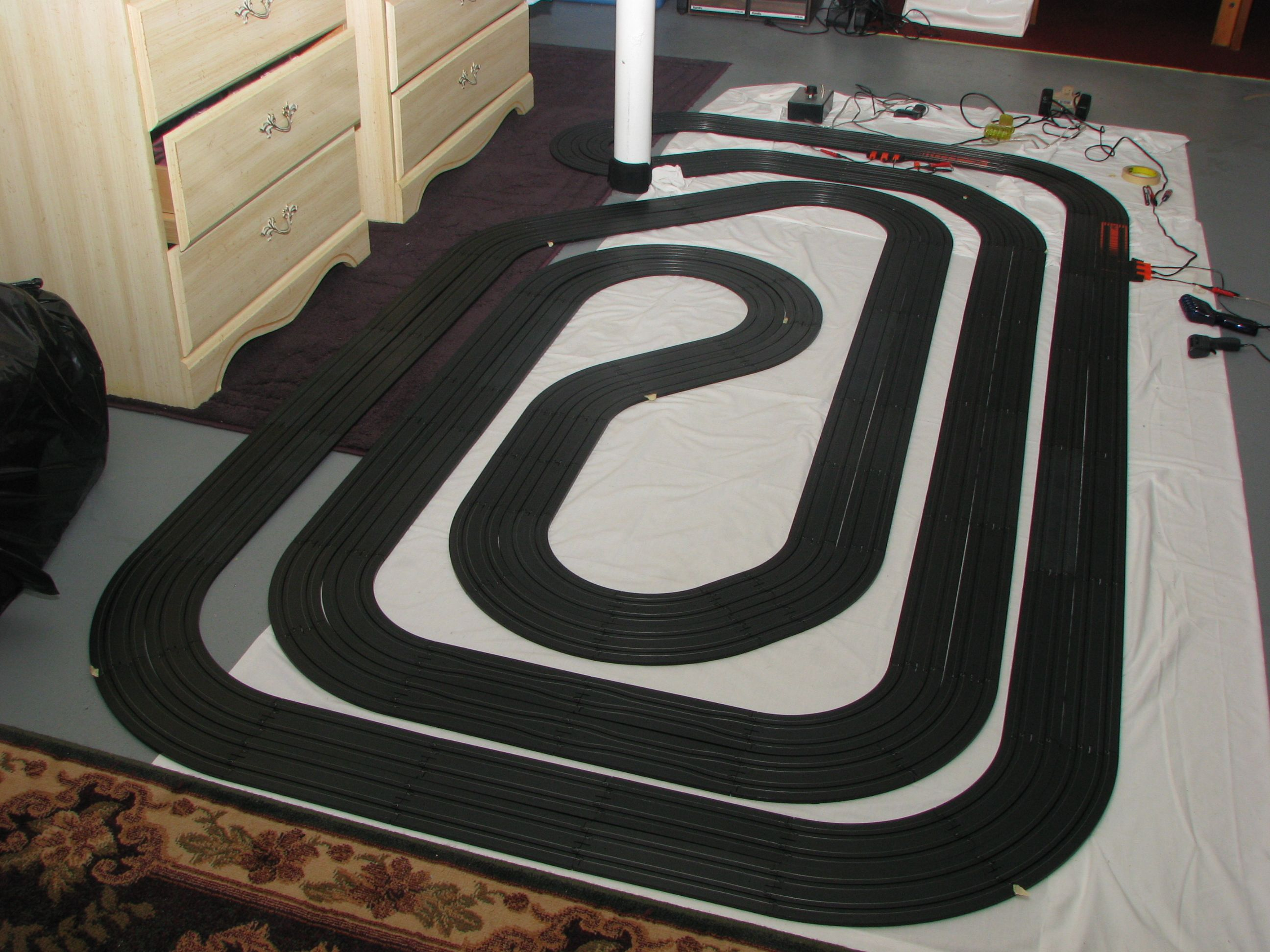 Another angle of the bayside 55 slot car layout from http www