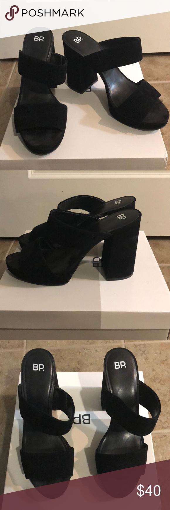 c8a7d7c6e240 BP Sophia Platform Sandal Black suede