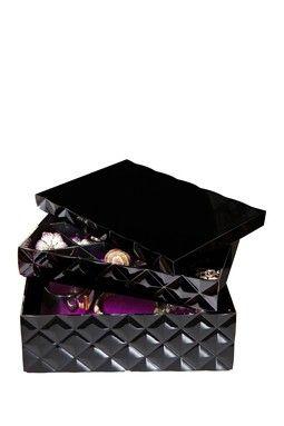 Black Stackable 3 Tier Jewelry Box