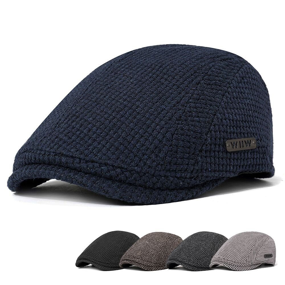 Men Cotton Gatsby Flat Beret Cap Adjustable Knit Ivy Hat Golf Hunting Driving  Cabbie Hat 4e2ffe9b9ce7