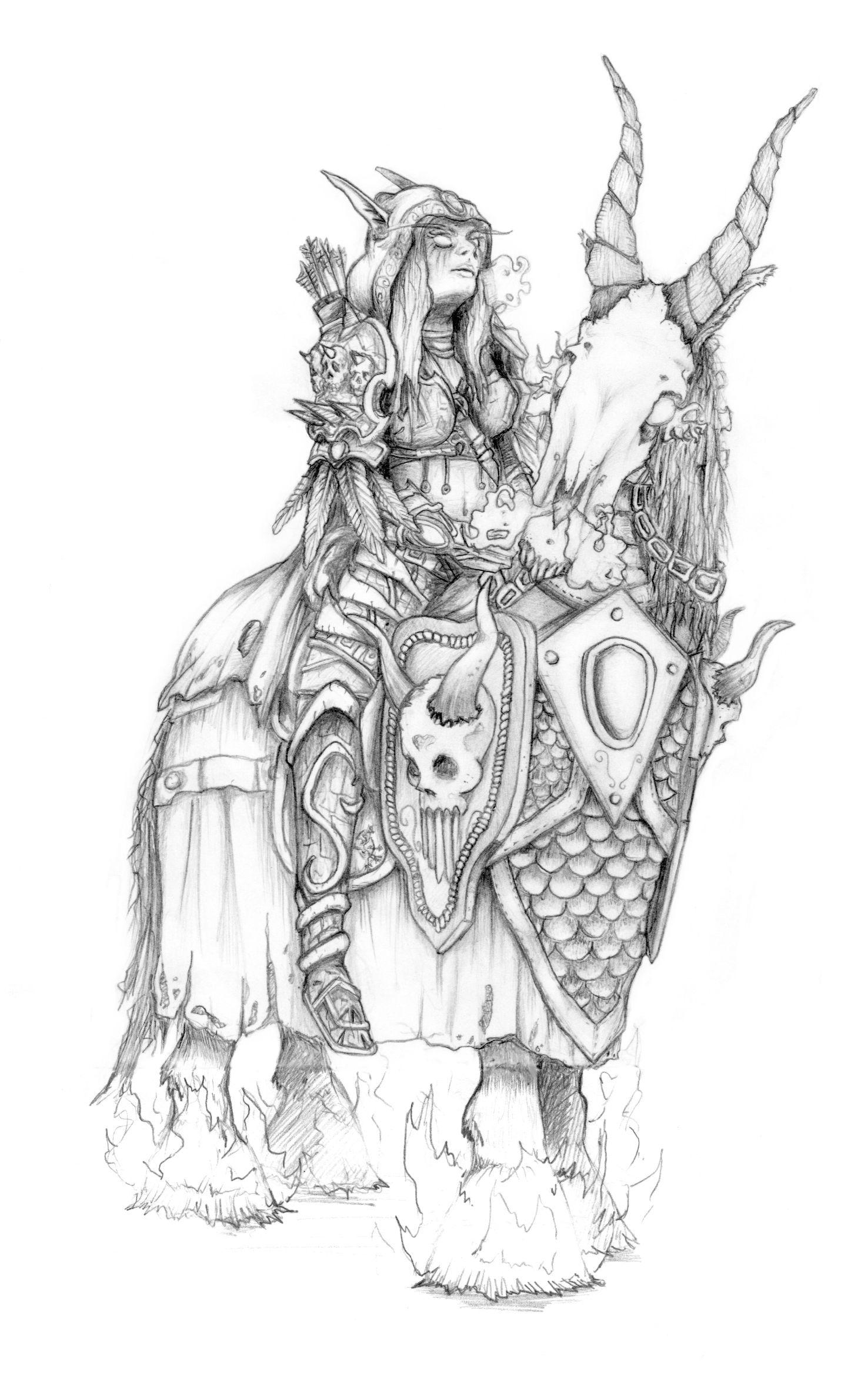 Luke Mancini Sketches Google Search World Of Warcraft Figuren Zeichnen Anime Art Fantasy