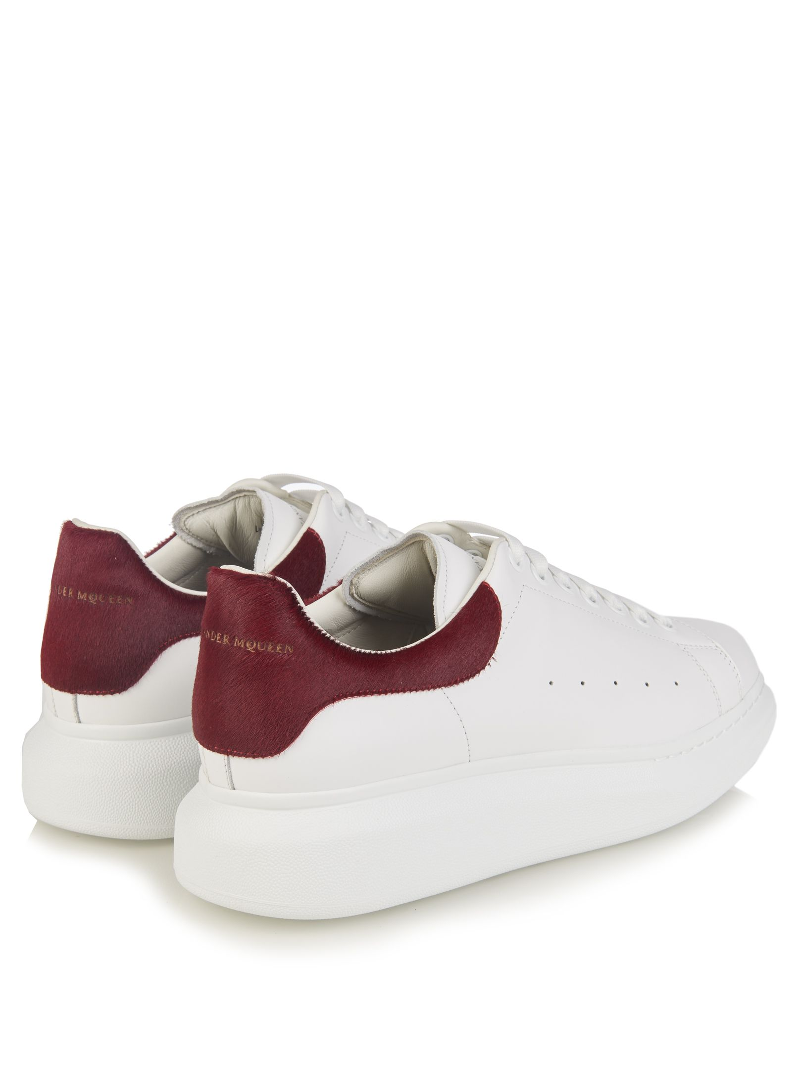 Raised sole low top leather trainers   Alexander McQueen