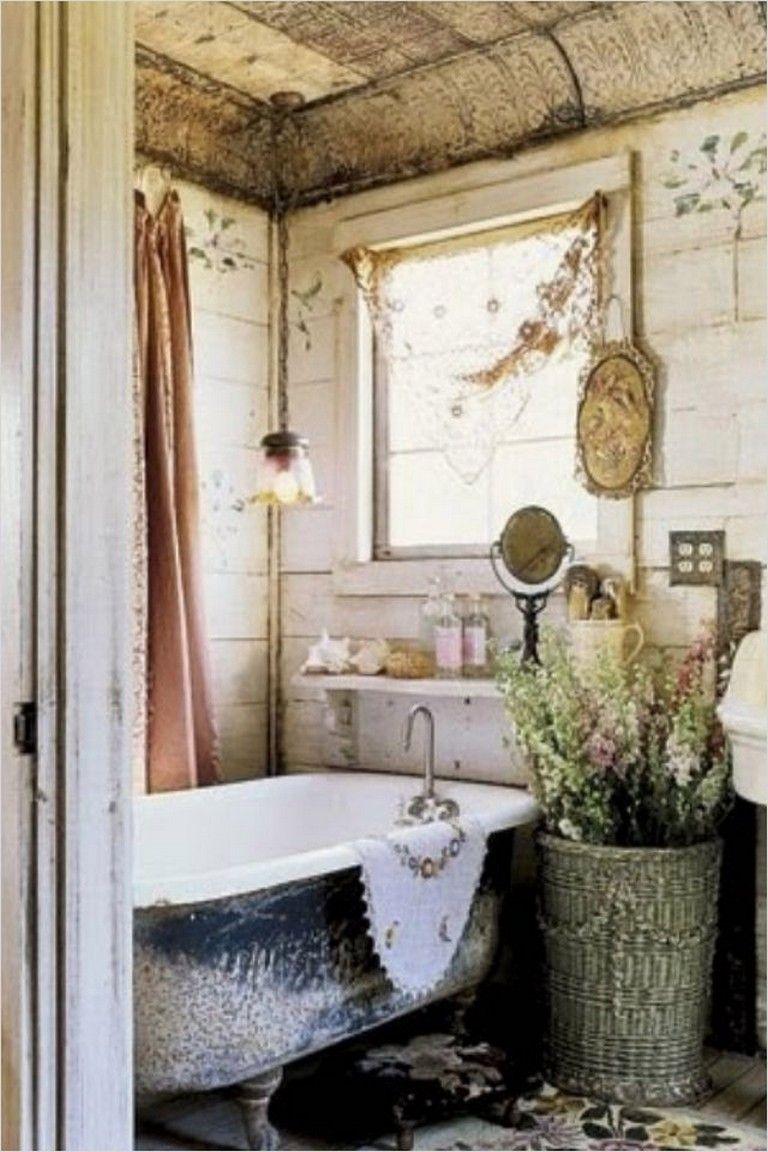 40 Elegant Shabby Chic Bathroom Decorating Ideas Romantic