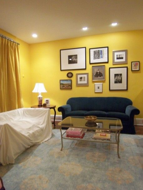 Yellow wall painting living room | Decorating A Yellow Living Room ...