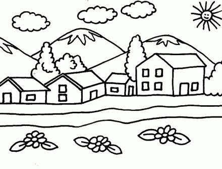 Paisaje Infantil Videos Paisaje Para Colorear Paisajes Dibujos