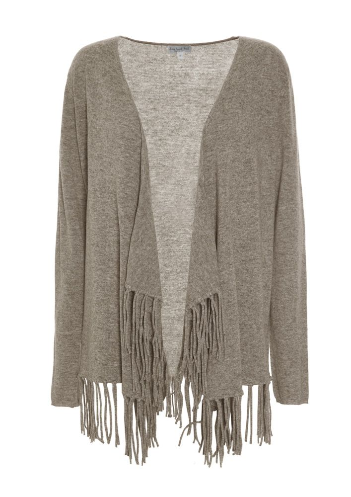 830715 – Savanna Cardigan with tassels - Linnen