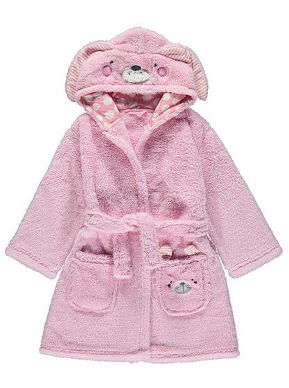 Rabbit Hooded Fleece Dressing Gown, read reviews and buy online at ...