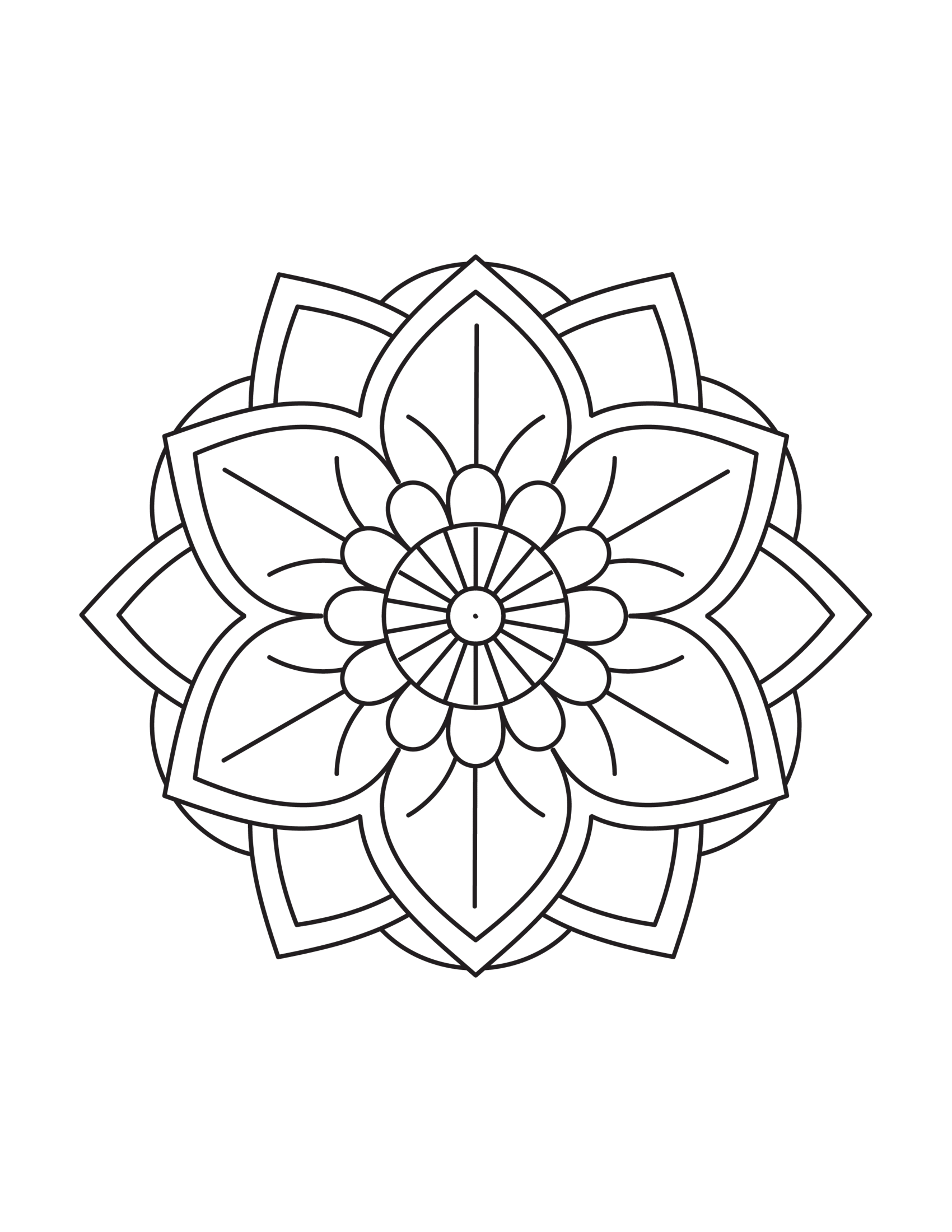 Simple Flower Mandala Coloring Pages Free Printables Mandala Coloring Printable Flower Coloring Pages Mandala Coloring Pages