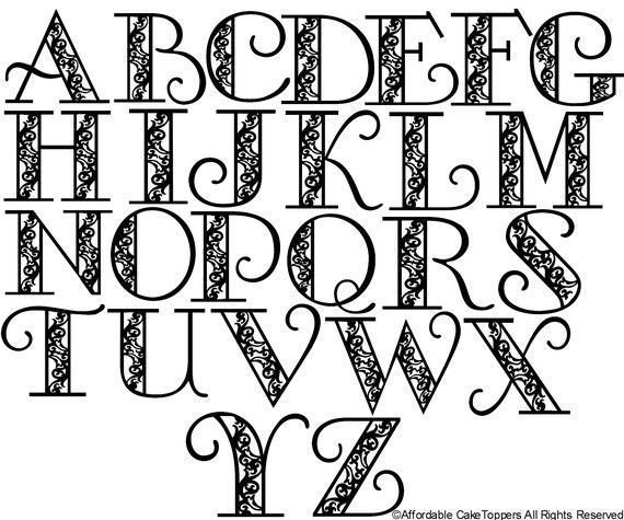 Wedding Cakes Letters Easy Start For The Center Of A Doodle And Build From There