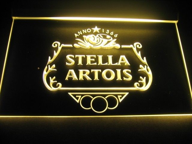 Stella Artois Logo Beer Bar Pub Store Light Sign Neon Father