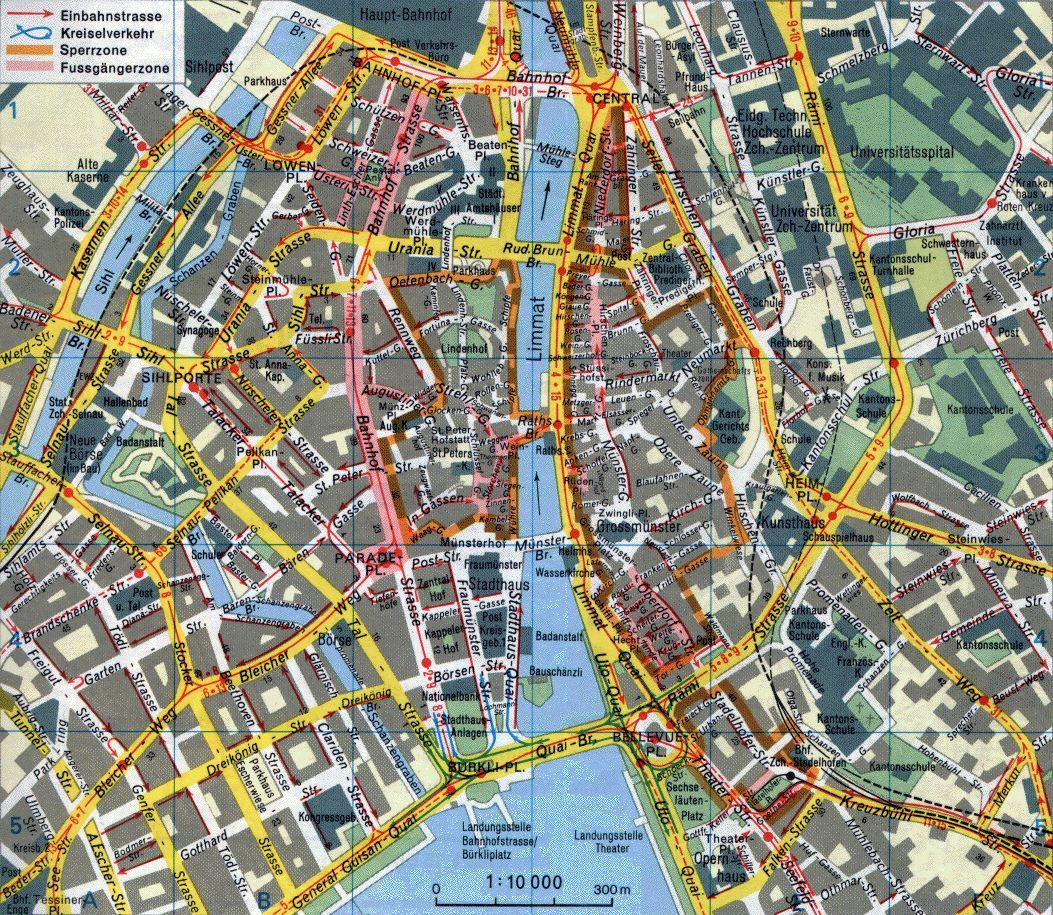 Large detailed metro map of Zurich city. Description from ...