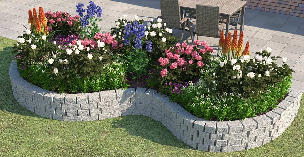 Beet Ganz Einfach Anlegen Gestalten Obi Gartenplaner Anlegen Beet Einfach In 2020 Rose Garden Design Garden Projects Front Yard Garden