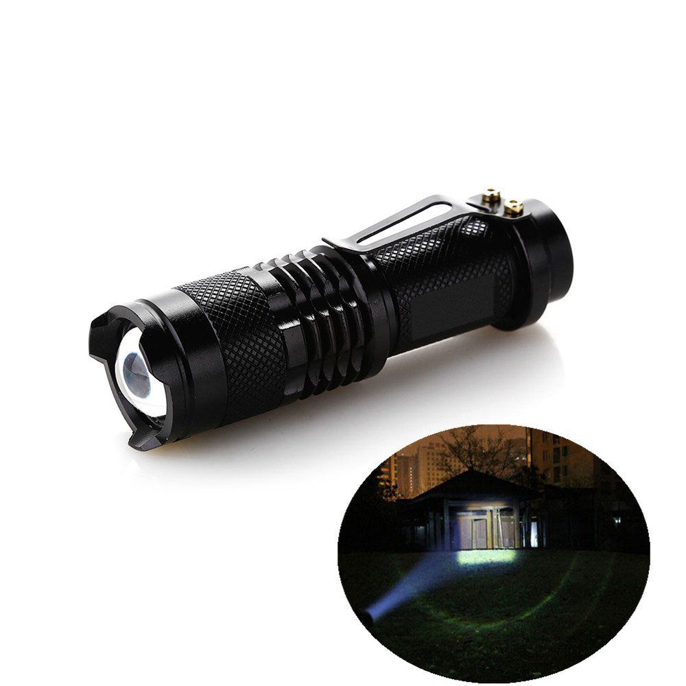 AGM 1000LM Adjustable Focus Zoomable Light Handheld CREE LED Tactical Flashlight (black) -- Awesome products selected by Anna Churchill