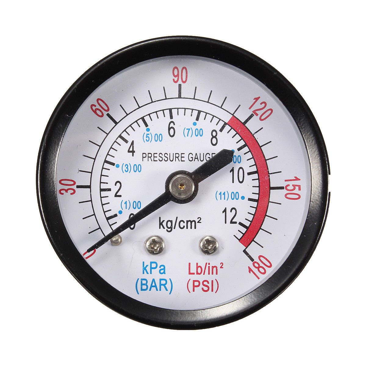 1 4 Bsp Thread 0 180psi 0 12bar Air Pressure Gauge For Air Compressor Iron Air Pressure Gauge Pressure Gauge Gauges