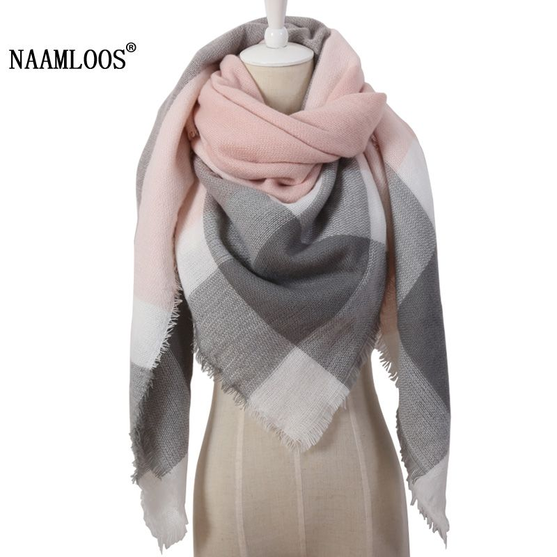 Women's Scarves Ladies Warm Scarves Female 2018 Autumn And Winter Thick Tassel Scarf Shawl Women New Fashion Circle Sand Large Plaid Scarf Neither Too Hard Nor Too Soft