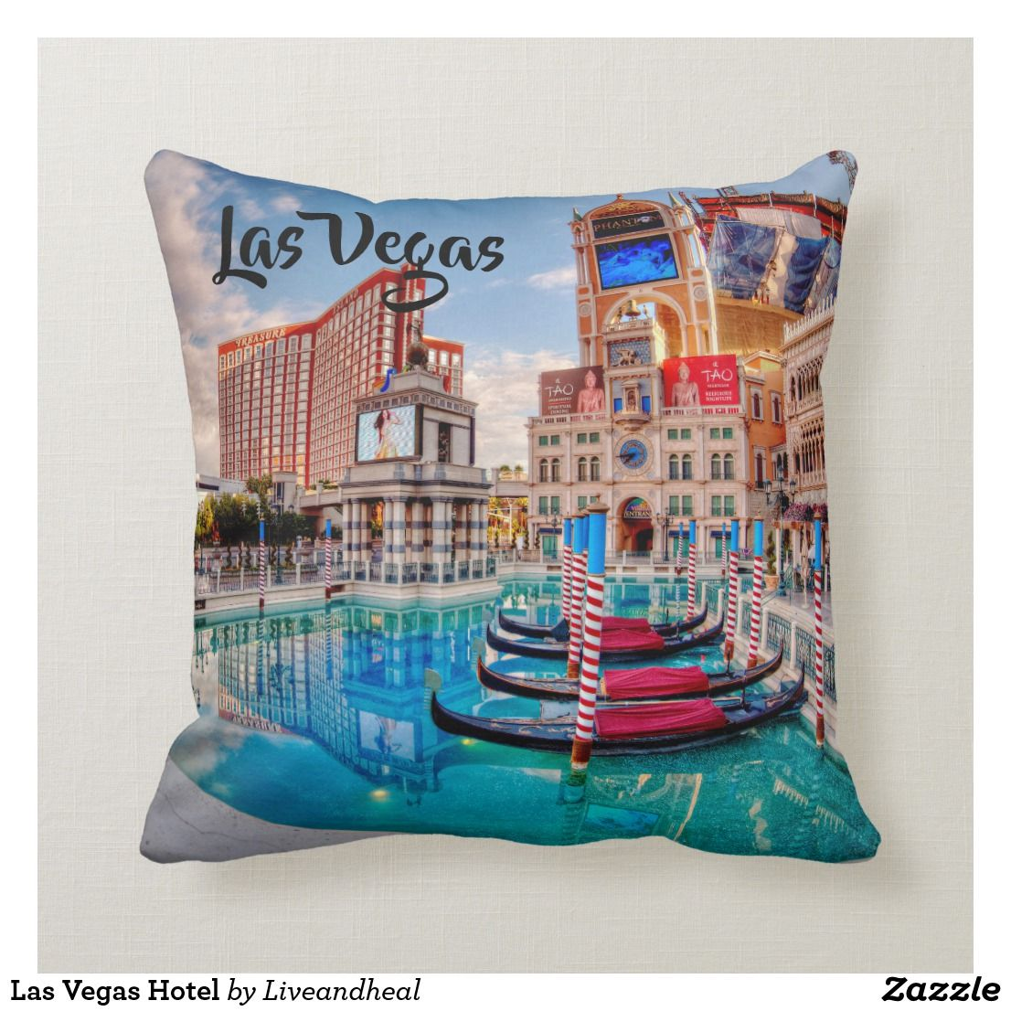 Las Vegas Hotel Throw Pillow Zazzle Com With Images Vegas