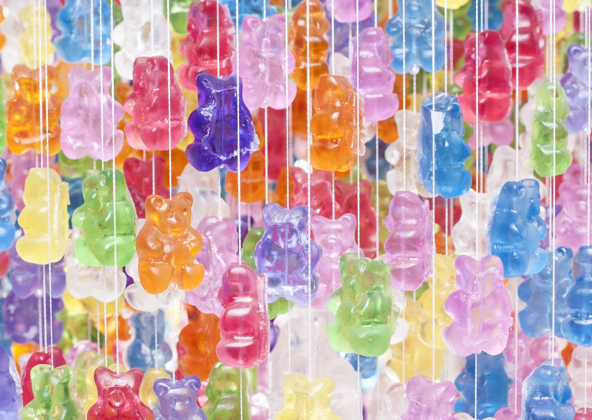 Gummy bear chandelier cast acrylic and acrylics gummy bear chandelier arubaitofo Image collections