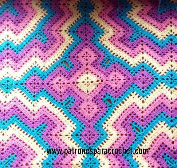 Patrones de mantas crochet paso a paso manta colchas - Mantas de ganchillo paso a paso ...