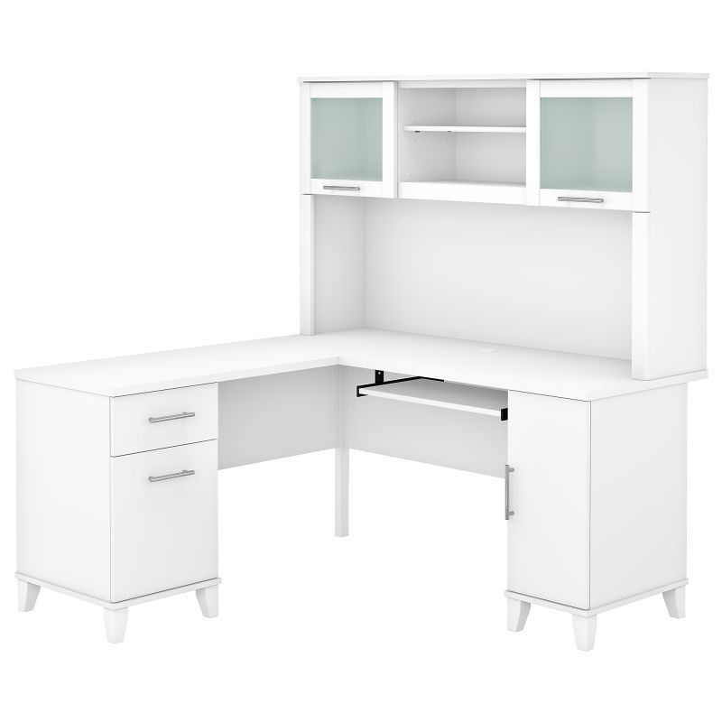 Pin On Quick Saves White l shaped desk with hutch