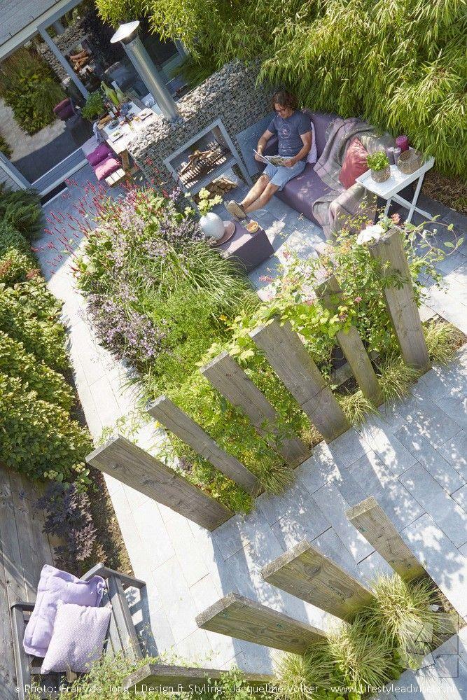 Photo of About our portfolio # sichtschutzfürterrasse Stadstuin, green outdoor rooms in l …