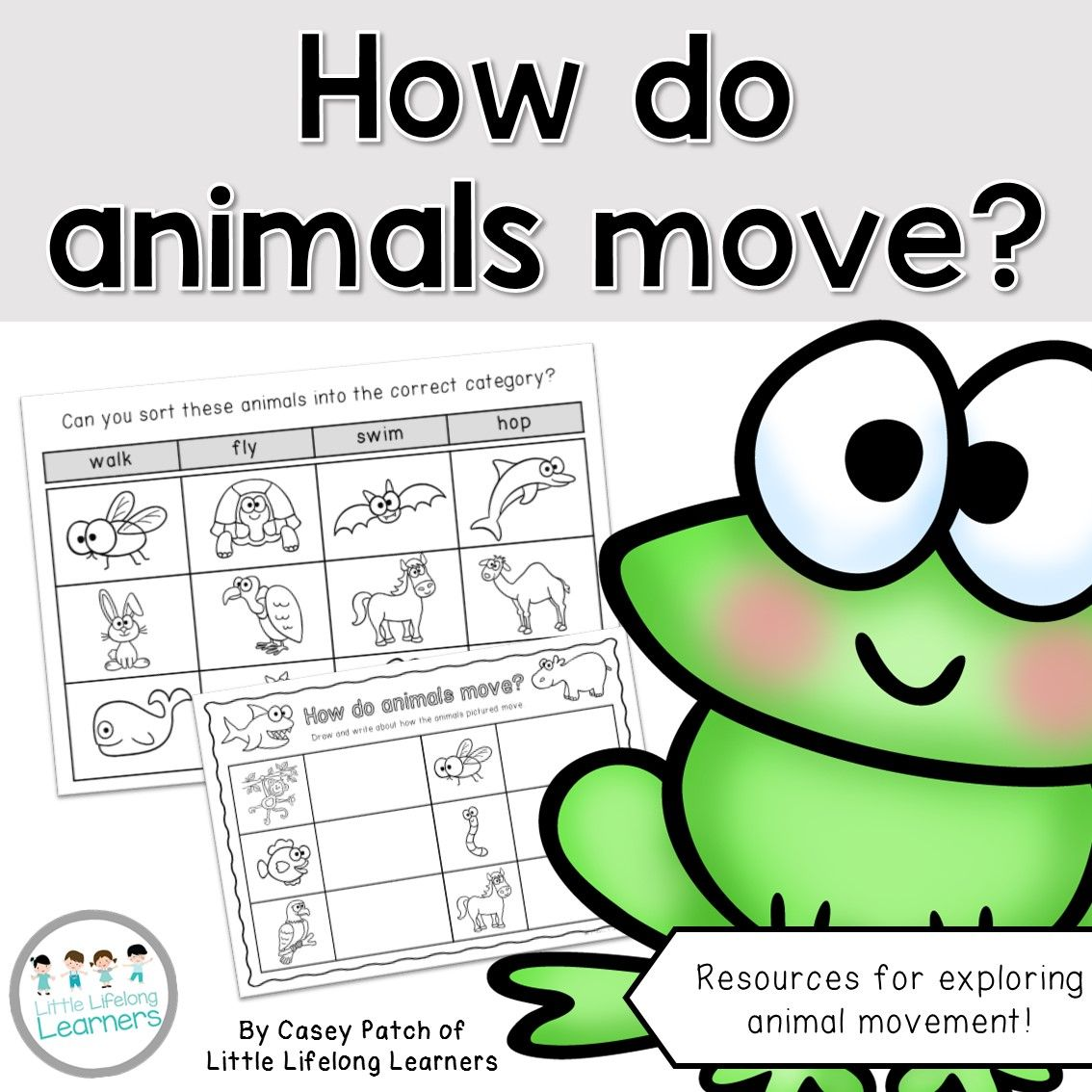 How do animals move? - Foundation Science Packet | Kindergarten ...