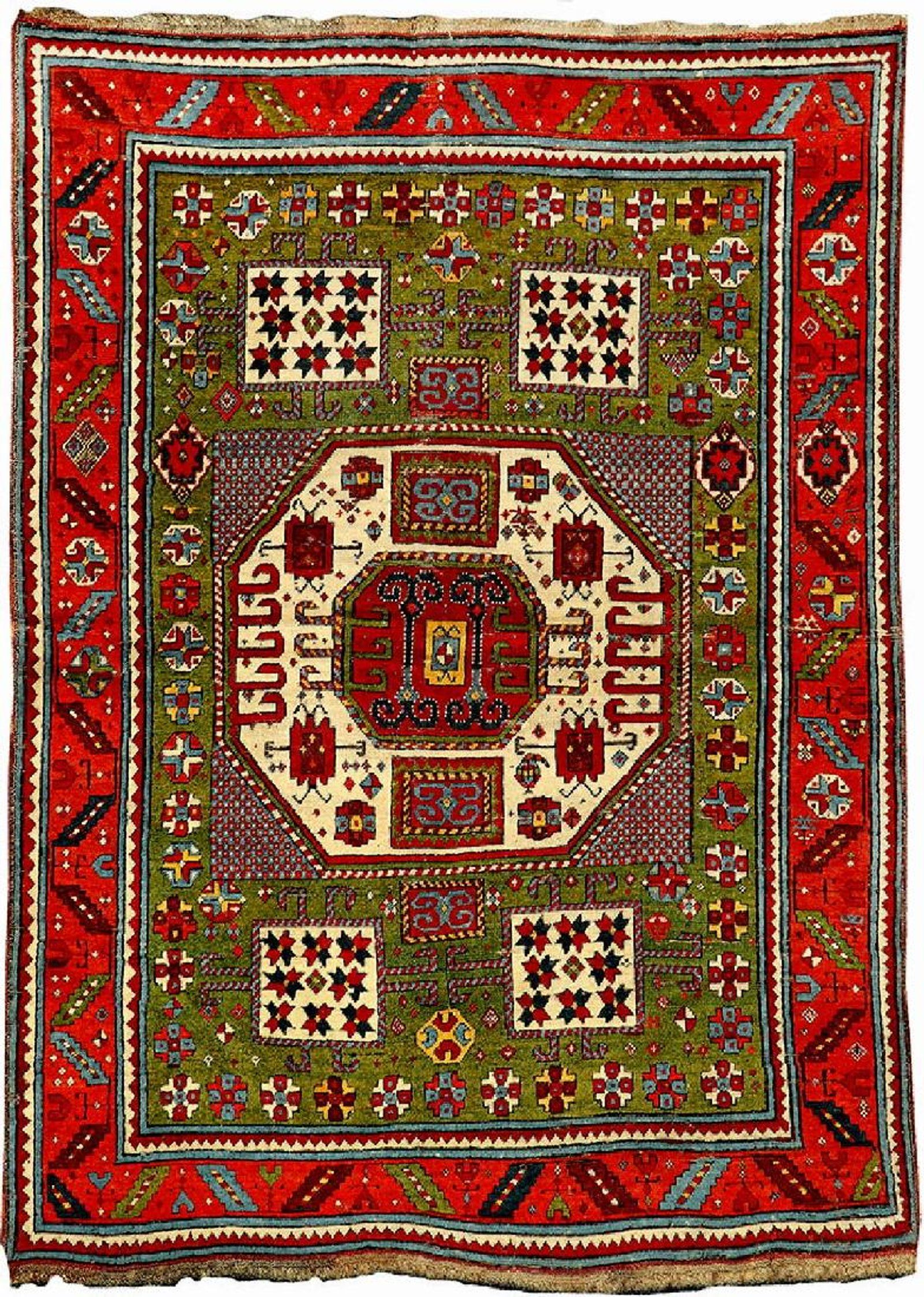 Unusual Green Ground Karachop Kazak Rug Jun 09 2018 Henry S Auktionshaus Ag In Germany Rugs Rugs On Carpet Area Rugs