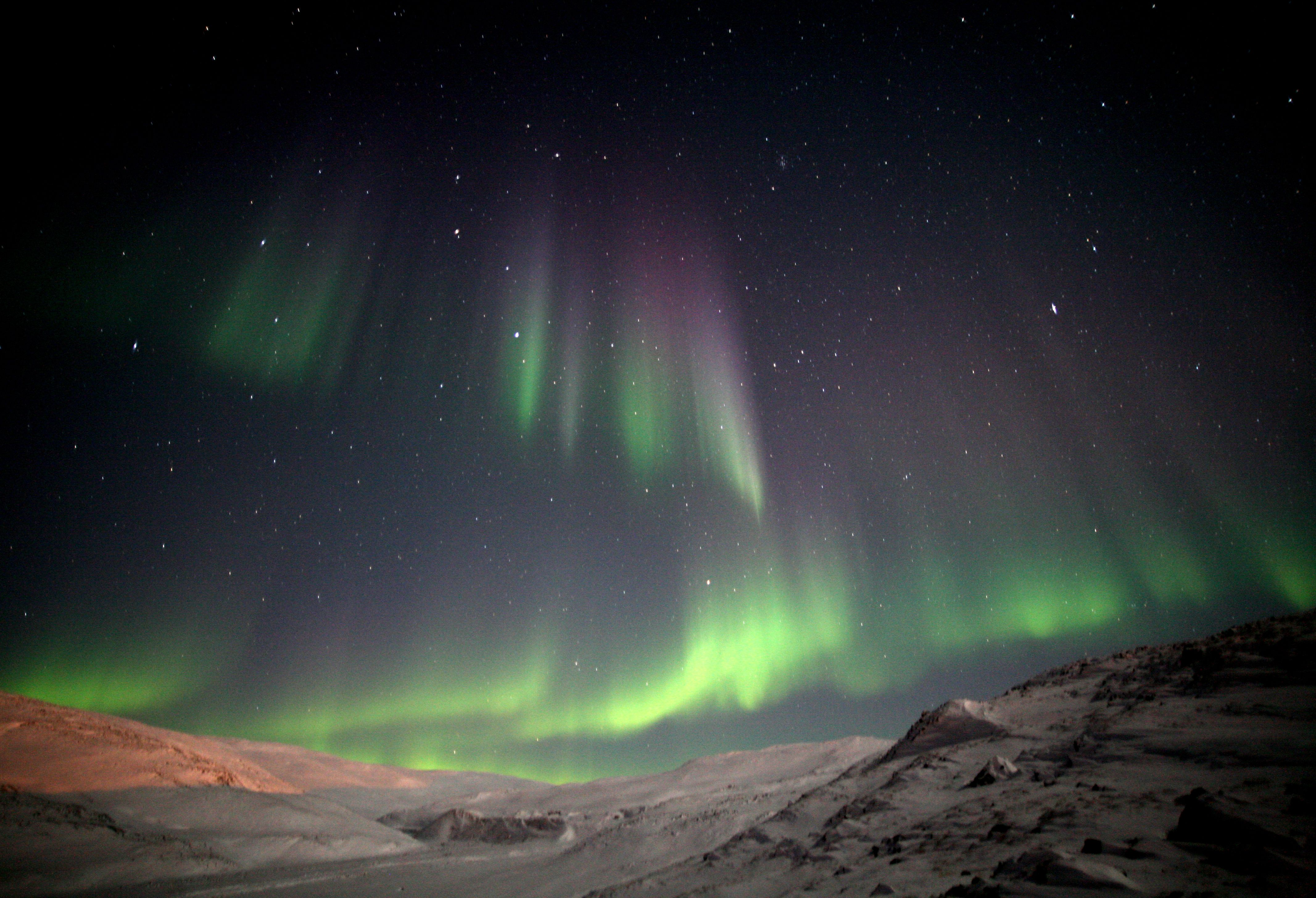 The Auroras Borealis Or Arsaniit In Inuktitut Are Caused By The