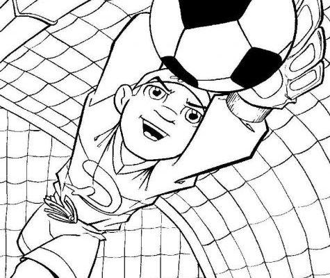 Portero De Futbol En Accion Dibujos Para Colorear Portero De Futbol Dibujos De Futbol Dibujos