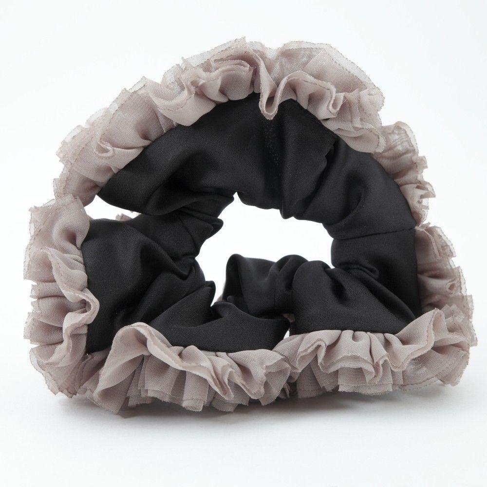 Chiffon Fabric Ruffle Lace Romantic Handmade  Elastic Band Hair Scrunchies  #Handmade #Scrunchies
