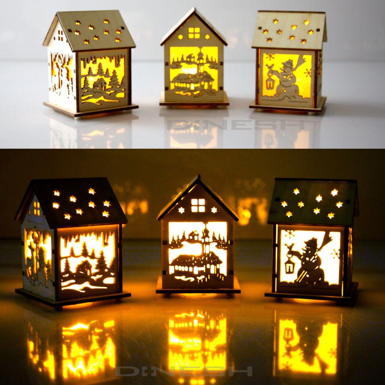 led weihnachts holzhaus mit beleuchtung stadt weihnachten weihnachtsmotiven eur 2 99. Black Bedroom Furniture Sets. Home Design Ideas