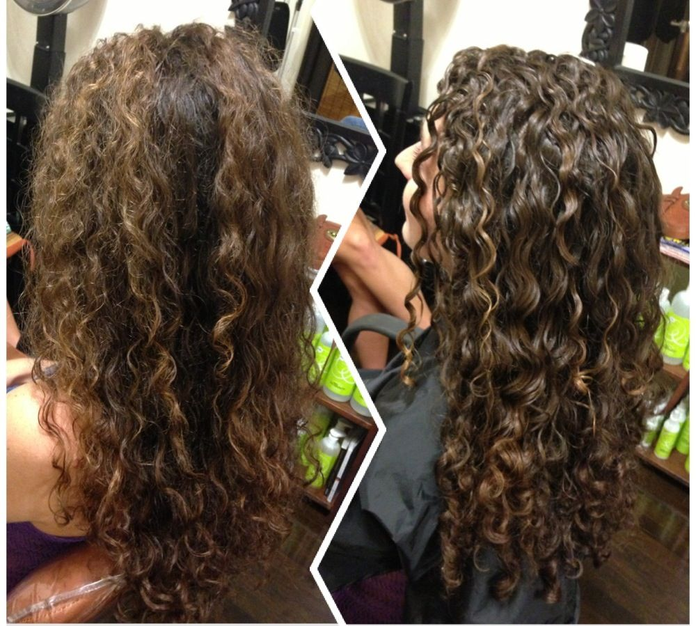 Devacut Before After Followed By The Deva 3 Step With Ultra Defining Gel Set It Free Curly Permed Hairstyles Curly Hair Styles Naturally Curly Hair Tips