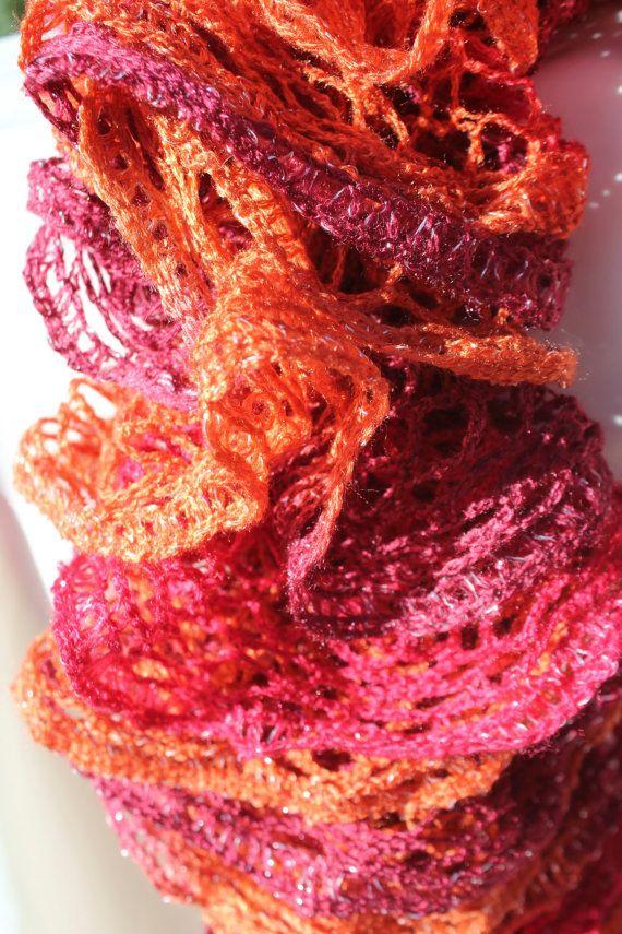 Red Heart Boutique Sashay Yarn Salsa Ruffled Scarf Sashay Scarves