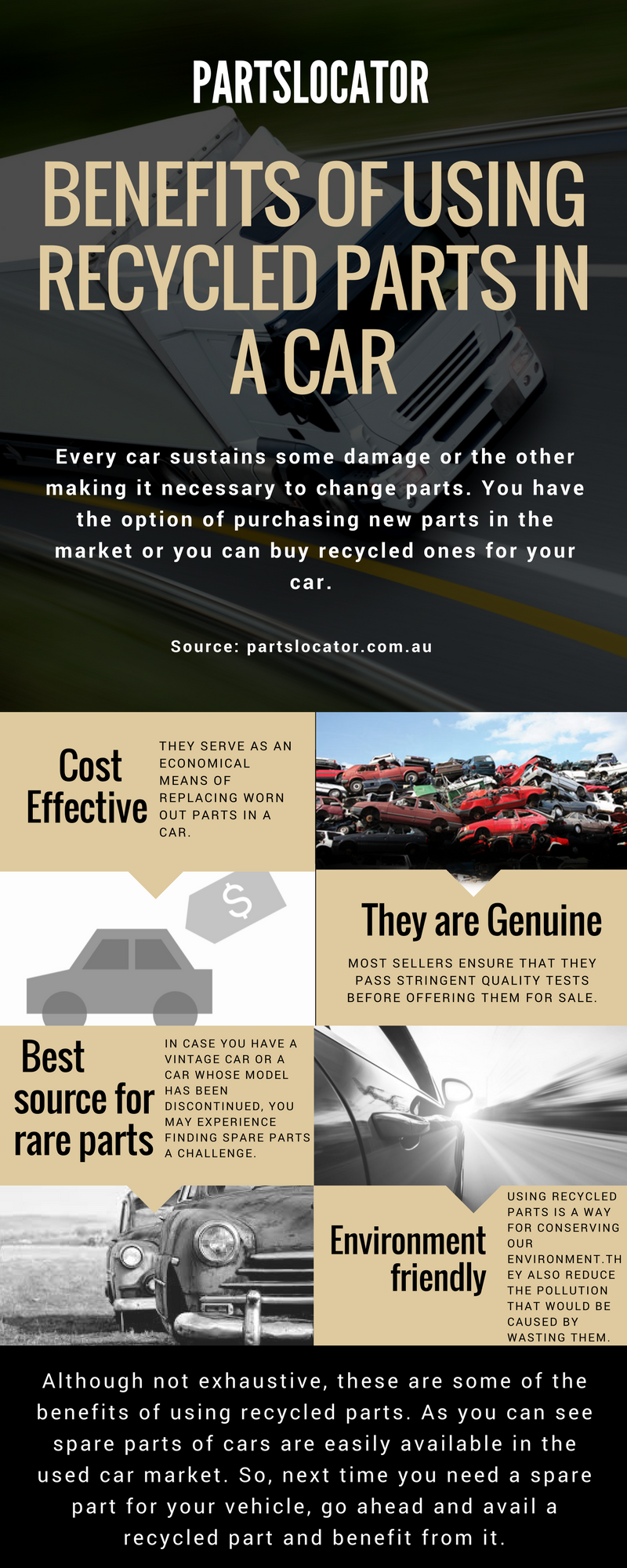 There are many benefits of auto recycling such as many benefits to ...