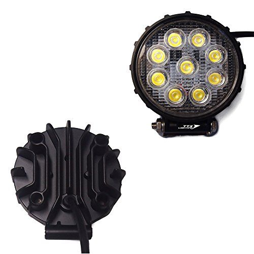 Ttx Lighting 4 Inch 27w Round Led Work Light 30 Degree Spot Beam Dc 9 75v 2430 Lumens For 4x4 Utv Rzr Teryx Rhino Jeep Tractor Truck Fork Lifter Boat Pack Of