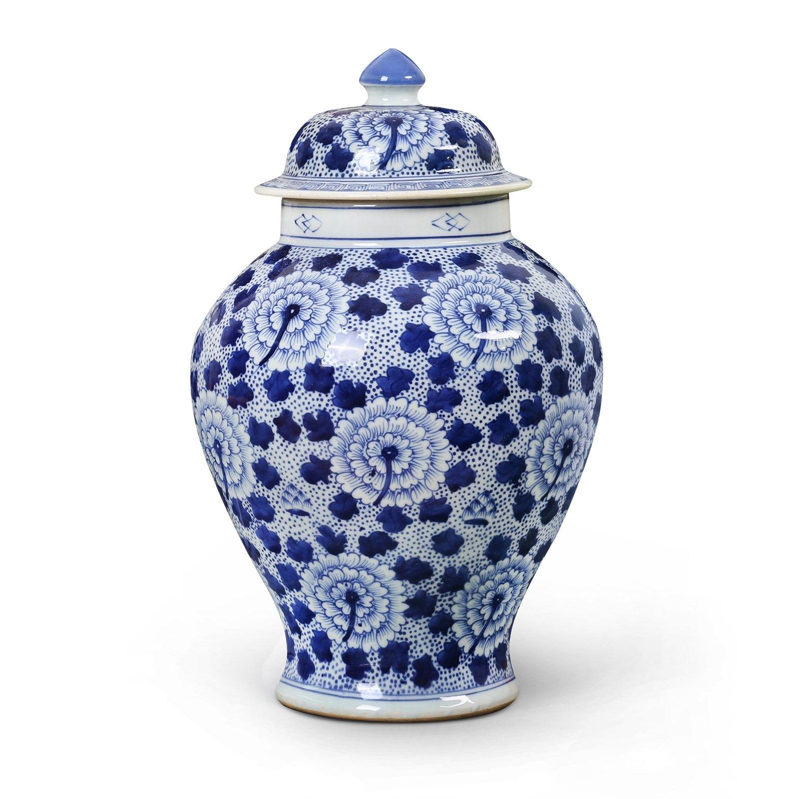 Flower Temple Jar, Blue & White Bungalow 5 Temple jar