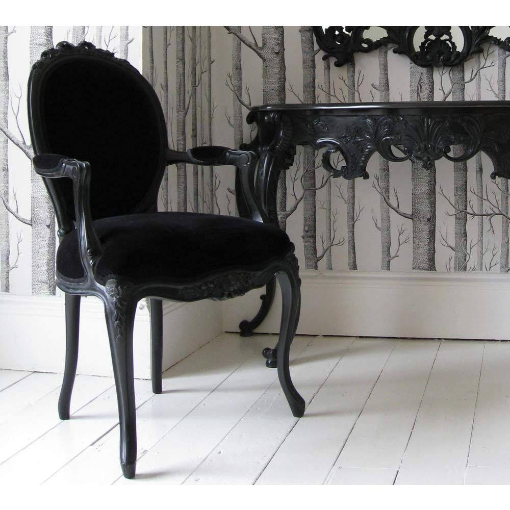 Best Sassy Boo Boudoir Lady S Black Velvet Chair Black Velvet 640 x 480