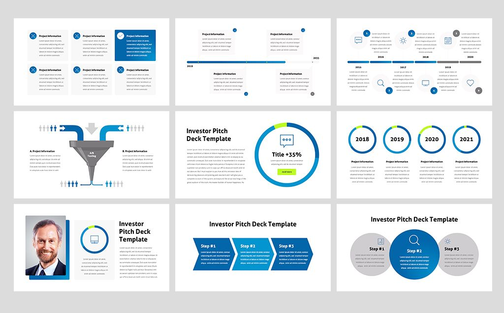 Investor Pitch Deck PowerPoint Template | Poster Design