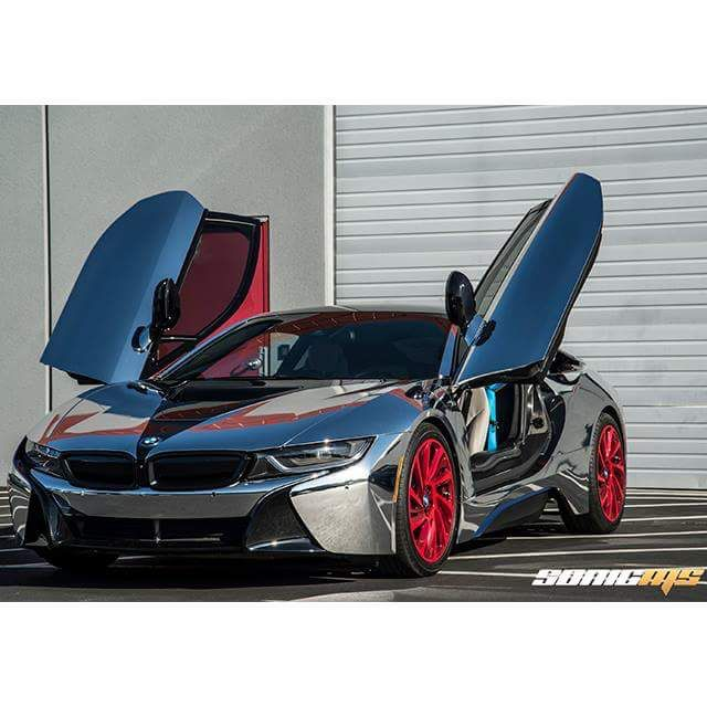 Check Out This Cold Bmw I8 Wrapped In Avery Dennison Silver Chrome