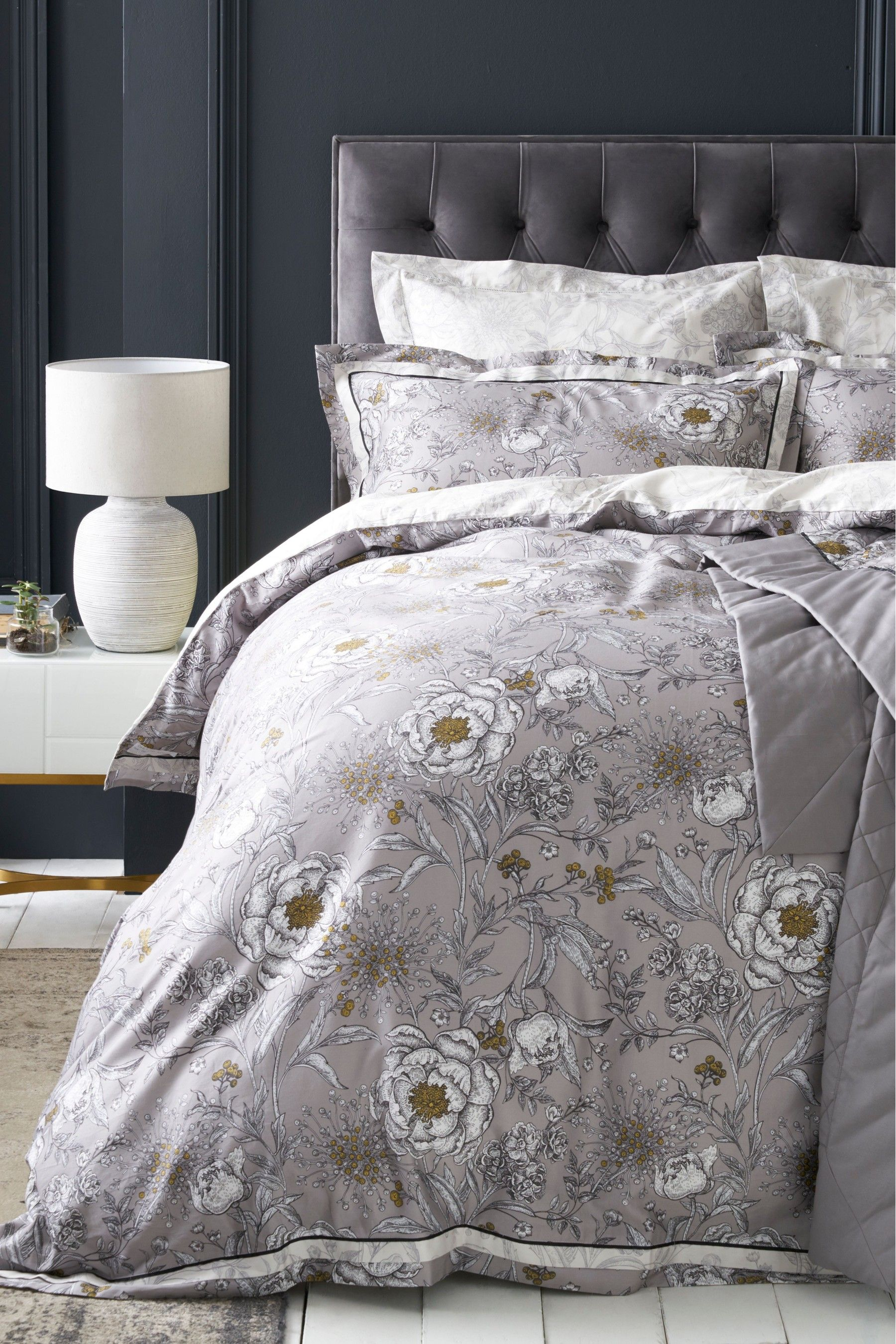 Buy Heritage Floral Duvet Cover And Pillowcase Set From The Next Uk Online Shop Bed Linens Luxury Gray Duvet Cover King Bedding Sets