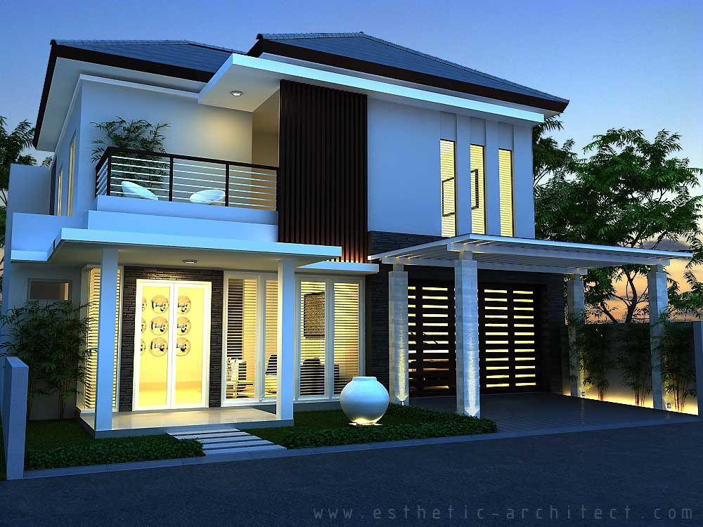Gambar Rumah Minimalis Modern 2 Lantai Hook  Desain
