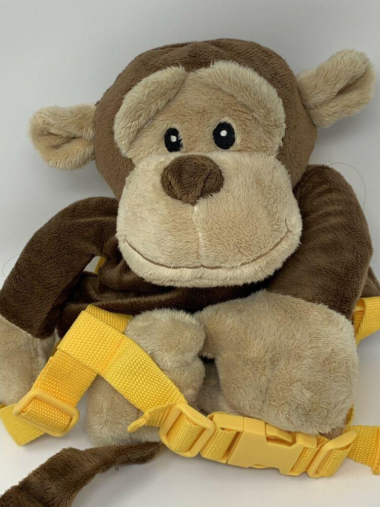 Animal Monkey Plush Backpack Bag Harness With