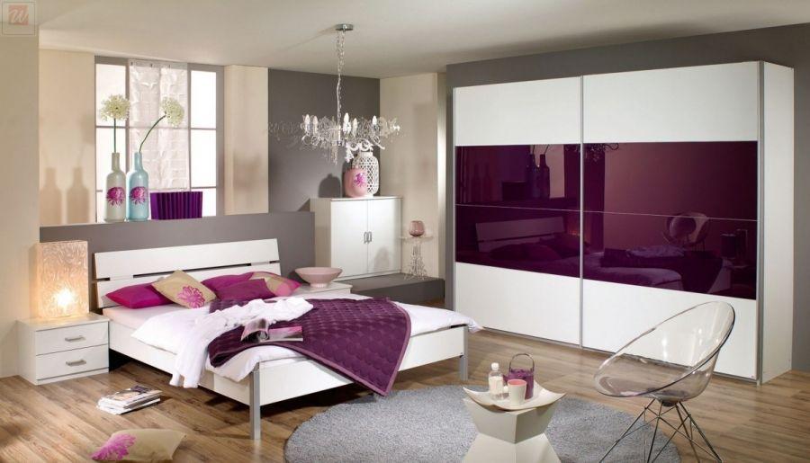 Schlafzimmer brombeer ~ Schlafzimmer mit bett cm alpinweiss glas brombeer