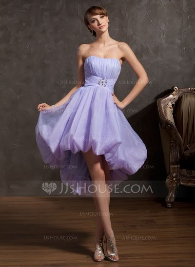 Prom Dresses - $132.29 - A-Line/Princess Sweetheart Asymmetrical Organza Prom Dress With Ruffle Beading (018043867) http://jjshouse.com/A-Line-Princess-Sweetheart-Asymmetrical-Organza-Prom-Dress-With-Ruffle-Beading-018043867-g43867?ver=n1ug2t&ves=vnlx6