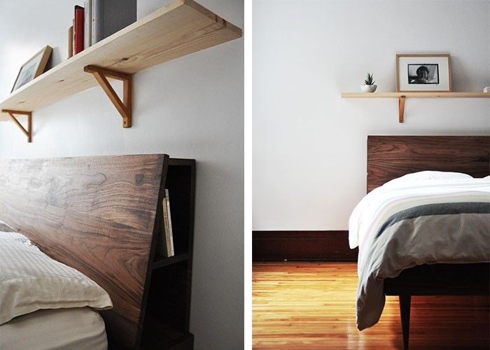 Five Favorites: Wooden Beds with Angled Headboards | Respaldos de ...
