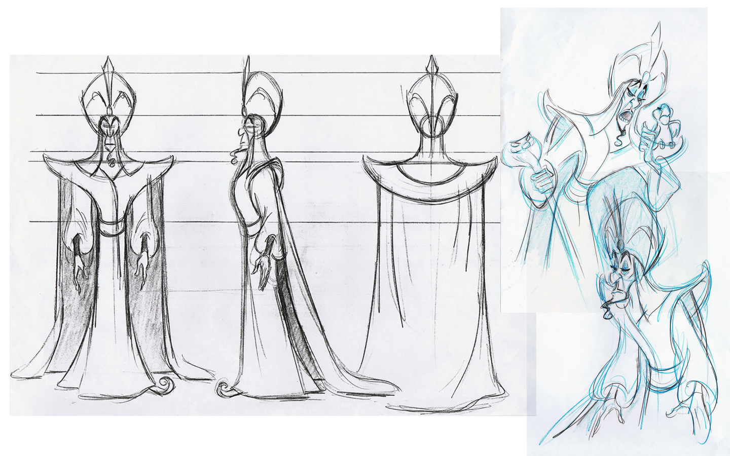 Disney Aladdin Character Design : Roughs and turnaround for jafar from disney s aladdin