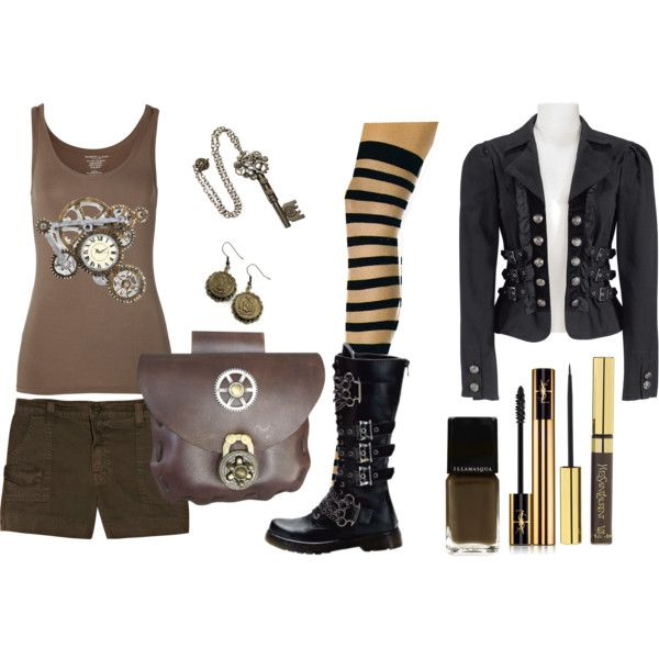 Casual Steampunk., created by abilene on Polyvore