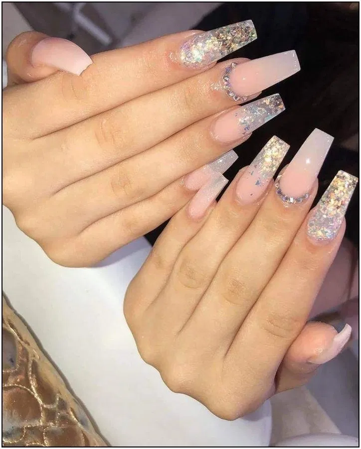 125 Trendy Spring Acrylic Coffin Nails Styles For Girls 139 Cynthiapina Me In 2020 Ombre Acrylic Nails Quinceanera Nails Long Acrylic Nails