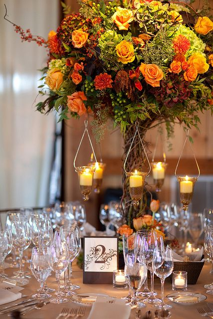 Tall Branching Centerpiece In 2019 Fall Wedding Flowers